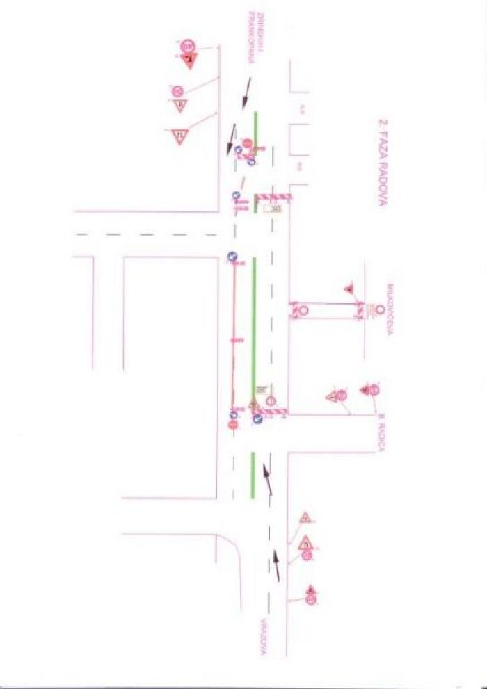 Privremena regulacija - faza 1 image Privremena signalizacija faza 2