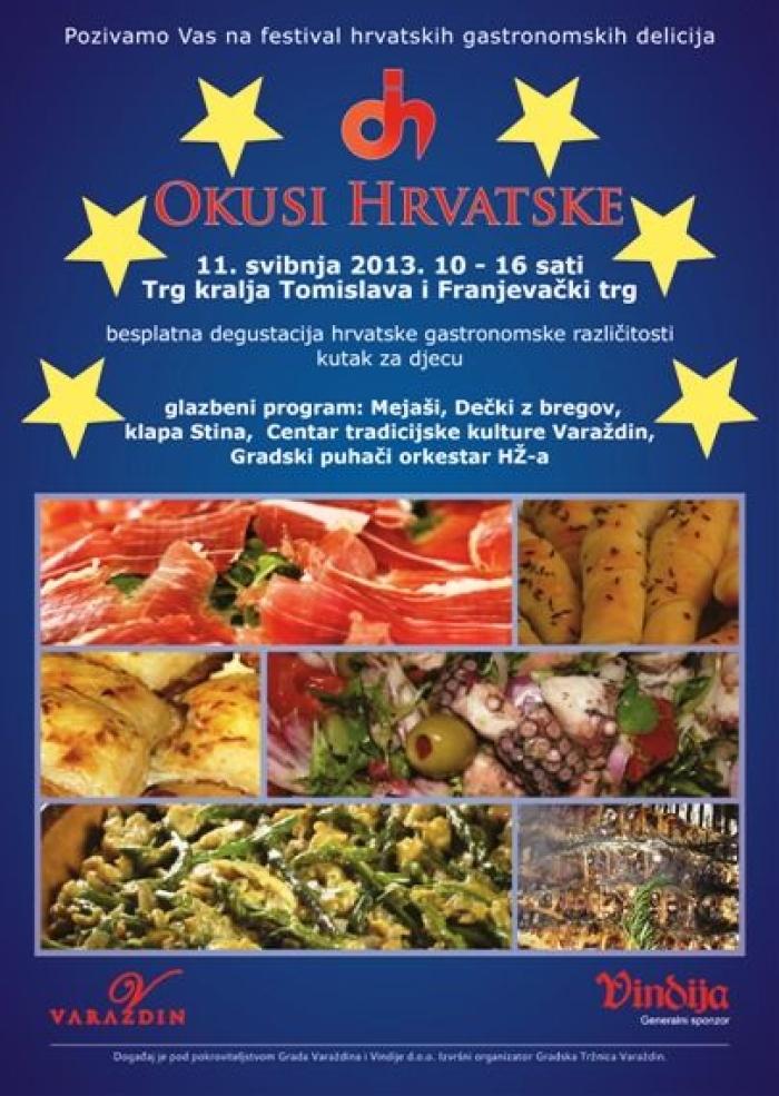 okusi hrvatske - plakat