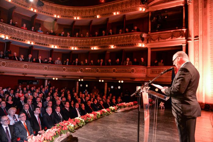 uvodne riječi i publika na Dan Grada Varaždina