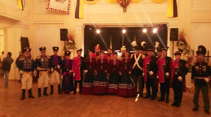 Varaždinski purgari u društvu sa sudionicima carskog bala