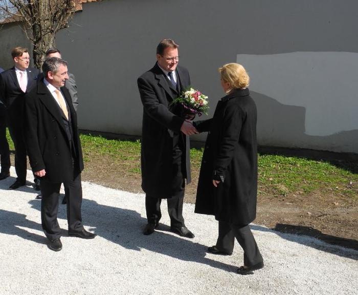 Gradonačelnik Goran Habuš dočekuje Predsjednicu RH Kolindu Grabar Kitarović